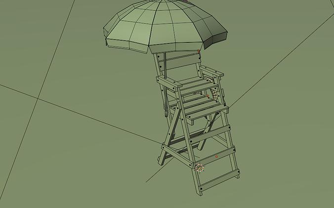 modelo 3d guarda chuva persoanlizado