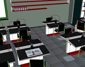 3D model Office-Teaching Building-Canteen 10