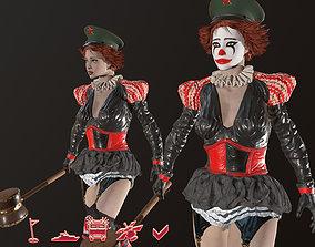 Clown Girl 3D asset