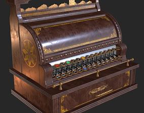 Old Antique Cash Register PBR 3D asset