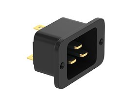 IEC 320 C20 Socket Module 3D