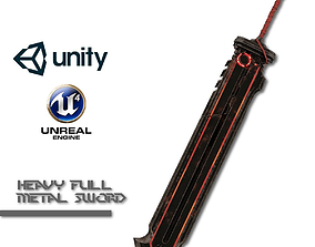 Heavy Full Metal Sword 3D model