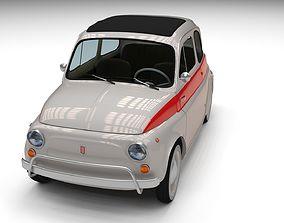 3D asset Fiat 500 Nuova Sport 1958