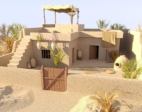 Ancient Egyptian House 3D PBR