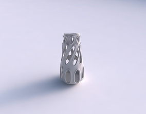 3D printable model Vase flared with smooth cuts eccentric