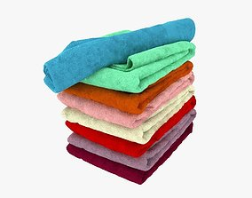 3D Colour Folded Towels