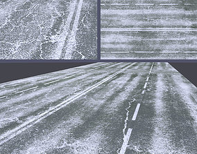3D asset Snow covered road
