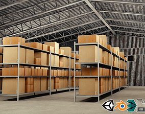 Warehouse 3D model building distribution