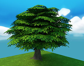 Cartoon tree cartoon 3D asset realtime