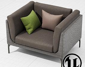 3D model Dedon Mu Chair 001 UE4