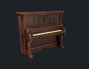 Old Fashioned Vintage Upright Saloon 3D model