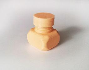 Bottle and Screw Cap 3D printable model screw