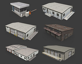 Industrial Buildings Pack 3D model VR / AR ready