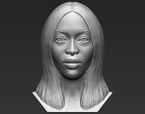 Naomi Campbell bust 3D printing ready stl obj formats