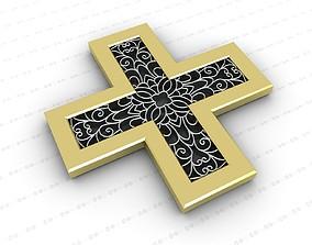 3D bronze Cross