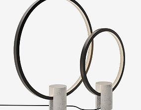 3D model Porada Halo lamp set