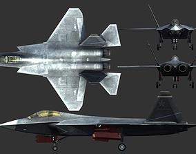 China PLA Air force ShenYang J-31 J31 FC31 3D asset
