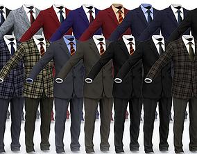 3D model VR / AR ready Business Suit Man