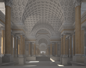 Interior of an Ancient Temple 3D model