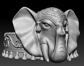 3D printable model elephant ashtray