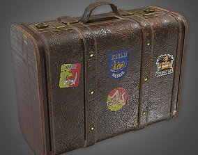 Old Brown Luggage Antiques - PBR Game Ready 3D asset