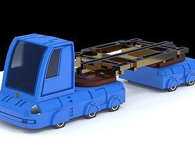 3D model Sci-fi Truck