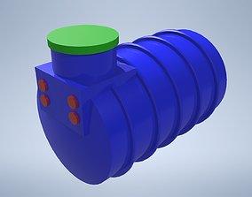 3D asset Water tank 1500 L
