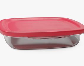 3D asset Medium Food Container 4