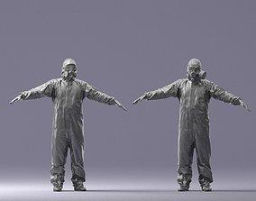 Hazmat suit man T-pose 0329-2 3D Print Ready