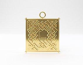 Celtic pendant letter L 3D print model