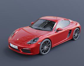 Porsche Cayman S 2017 3D model