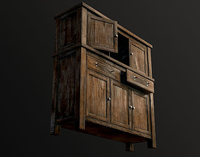 3D asset Wooden Chest Of Drawers