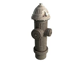 Old Fire Hydrant 3D asset low-poly
