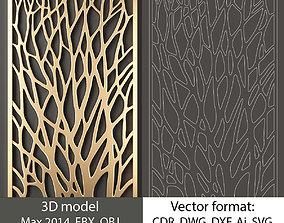 decorative panel 37 3d model and vector format