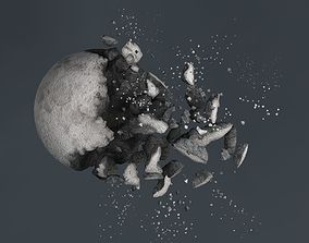 3D Impact Moon destroyed