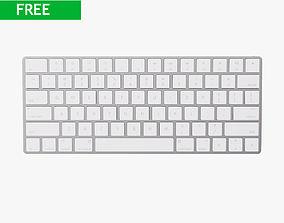 3D Apple magic Keyboard 2