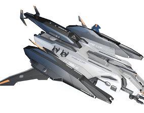3D model Sci-Fi - Aircraft - Iron 039M