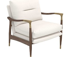 Theodore Arm Chair Natural Linen soho home 3D model