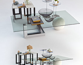 Set of tables coffee 3D
