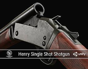 PBR Henry Single Shot Shotgun 3D model