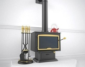3D Wood Stove cooktop
