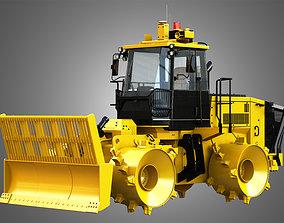 3D model 816K Landfill Compactor