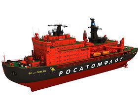 3D model Icebreaker Ship 50 Let Pobedy