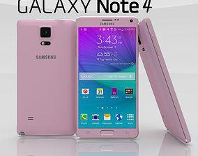 3D model Samsung Galaxy Note 4 Blossom Pink