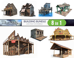 3D asset Building Bundle LOW POLY PBR