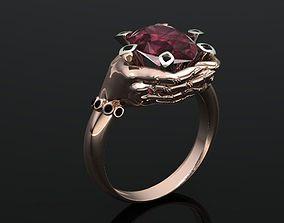3D printable model hand ring women