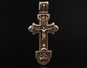 3D printable model Orthodox cross with savior and saints