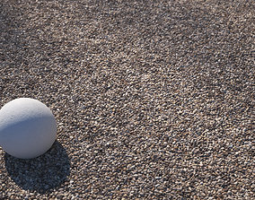 3D model Beige fine architectural gravel texture