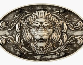 Medallion Lion traditional 3D printable model