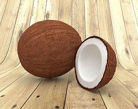 comida 3D model COCONUT